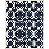 Safavieh Amherst Collection AMT411P Indoor/Outdoor Area Rug, 9-Feet by 12-Feet, Navy and Ivory