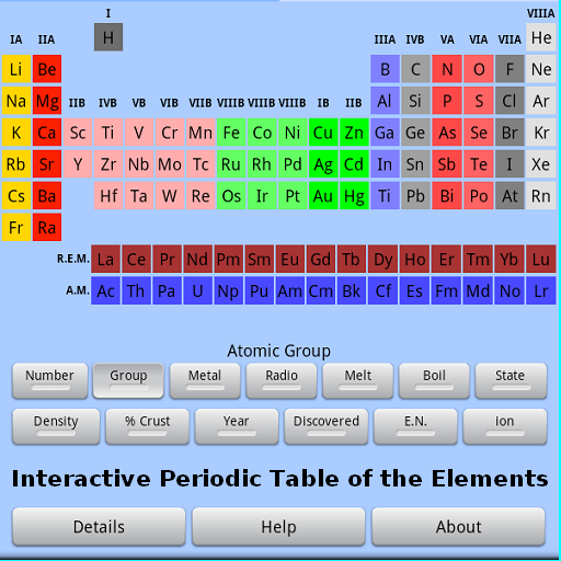 Periodic table free android app android freeware periodic table of download periodic table urtaz Images