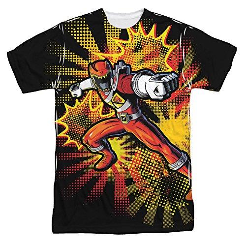 Power Rangers Dino Charge Red Ranger Burst - All Over Front T-Shirt