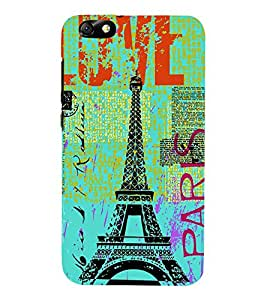 Vizagbeats Eiffel Tower Back Case Cover for Huawei Honor 4X::Huawei Glory Play 4X