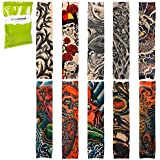 BMC Cool 10pc Fake Temporary Tattoo Sleeves Body Art Arm Stockings Accessories