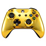 eXtremeRate Chrome Gold Edition Front Housing Shell Faceplate for Microsoft Xbox One X & One S Controller