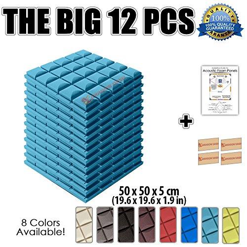 super-dash-lot-de-12-de-50-x-50-x-5-cm-bleu-clair-insonorisation-hemisphere-champignon-acoustique-di