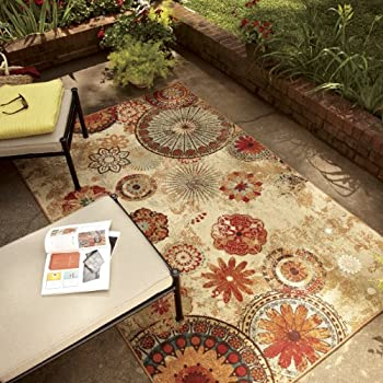 Mohawk Home Alexa Medallion Indoor/ Outdoor Printed Area Rug, 5x8, Multicolor