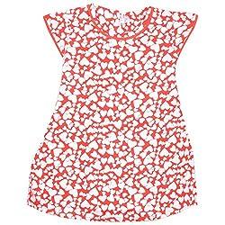 Rush Me Baby Girls' Dress (S.R.1006_2 Years, 2 Years, Red)