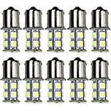10pcs 13-SMD 1156 Ba15s 12V Backup Signal Blinker Tail Light LED bulbs White