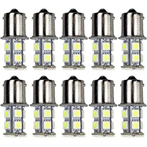 10pcs 13-SMD 1156 Ba15s 12V Backup Signal Blinker Tail Light LED bulbs White