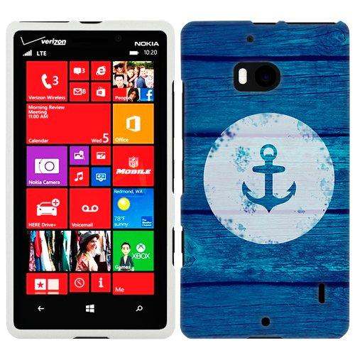 Nokia Lumia Icon Anchor On Blue Wood Phone Case