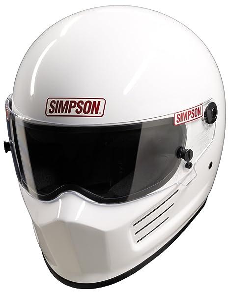 SIMPSON BANDIT HELMET SNELL SA2010 GLOSS WHITE S SMALL 56cm @ HELMET WORLD