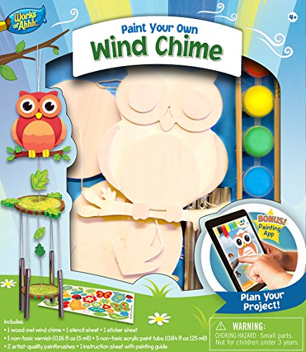 MasterPieces Works of Ahhh Wind Chime with Owl Paint Kit