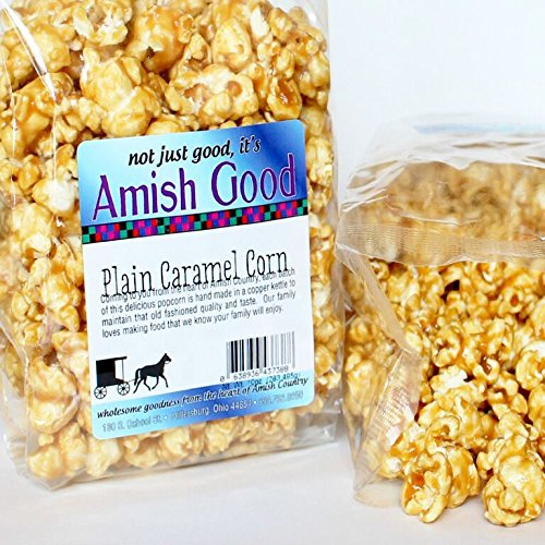 Amish Good Premium Caramel Popcorn * Hand Stirred in Copper Kettle * Real Butter and Coconut Oil Makes Better Caramel Corn * Satisfaction Guaranteed! (Coconut Butter For Popcorn compare prices)