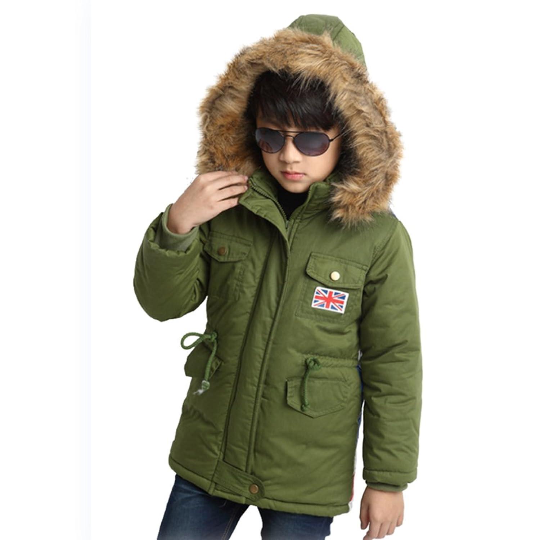 Moin Jacke Kinder Jungen Mädchen Verdickte Winterjacke mit Fellkapuze Tailliert Wintermantel bestellen