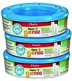 Playtex Diaper Genie Disposal System Refill, 3-Pack, Blue