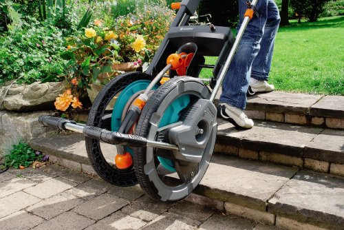 gardena 2684 164 foot capacity garden hose reel cart with 65 foot 1 - Garden Hose Reel Cart