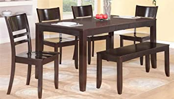 6-Pc Dining Set with Bench
