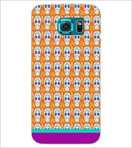 PrintDhaba Pattern D-1633 Back Case Cover for SAMSUNG GALAXY S6 (Multi-Coloured)