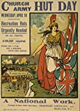 Vintage British WW1 1914-18 Propaganda CHURCH ARMY HUT DAY AT MARBLE ARCH, LONDON 250gsm Gloss Art Card A3 Reproduction Poster