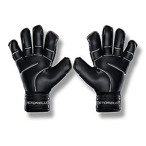 STORELLI Gladiator Pro 2.0 Goalkeeper Gloves | Professional Soccer Goalie Gloves | Superior Finger and Hand Protection | Black | Size 11 (Color: Black, Tamaño: 11)