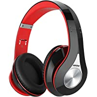 Mpow Over-Ear Wireless Bluetooth Foldable Headphones with Mic and Wired Mode (Black/Red)