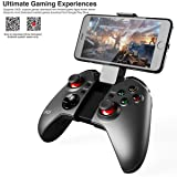 PowMax Gapo PG-9037 Bluetooth Wireless Classic Gamepad Game Controller (with Mouse Function) for Samsung HTC MOTO Addroid TV Box Tablet PC (Color: Black, Tamaño: Small)