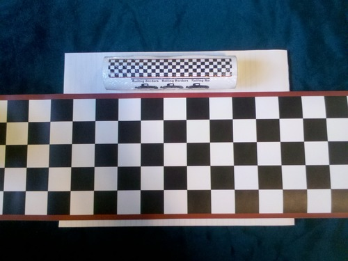 Nascar Checkered Flag Prepasted Wall Border Roll: Checkered Flag Cars Nascar Wallpaper Border-6 Inch (Red