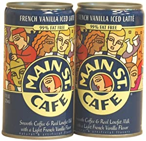Main St. Cafe French Vanilla Iced Latte, 11-Ounce Can (Pack of 12)