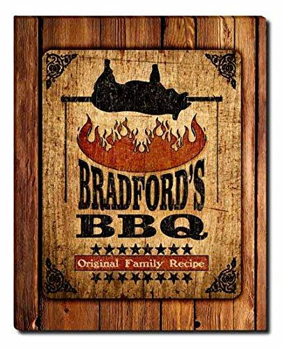 Bradford's Barbecue Gallery Wrapped Canvas Print (Bradford Smoker compare prices)