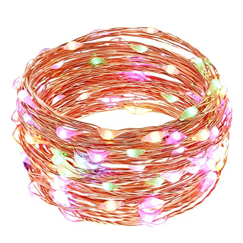 LUCKLED Dimmable Starry String Lights, 20ft 120 LED Fairy Copper Wire Rope Lights for Indoor/Outdoor Seasonal Décor, Home, Garden,Wedding, Party and Holiday Decorations (Little Windows Brilliant Resin compare prices)