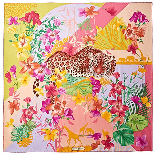 Salvatore-Ferragamo-Womens-Patterned-Silk-Scarf-Rosa