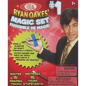 POOF-Slinky - Ideal Ryan Oakes 15-Trick Magic Set #1 with Thumb Tip and Food Cards, 0C1151