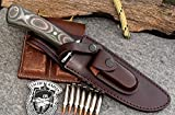 "CFK Cutlery Company USA Custom QUALITY Brown Leather Handmade 6 3/4"" Tactical / Bowie Blade Replacement Leather Knife Sheath with Pocket CFK164"