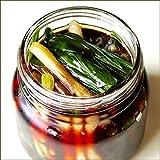 北海道産 山菜 天然 行者にんにく醤油漬け 8本セット