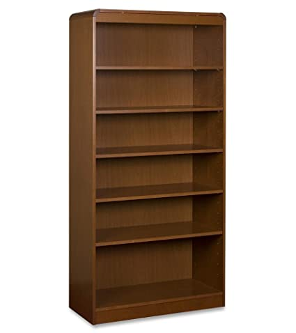 Lorell Adjustable Bookcase, 6-Shelf, 36 by 12 by 84-Inch, Cherry
