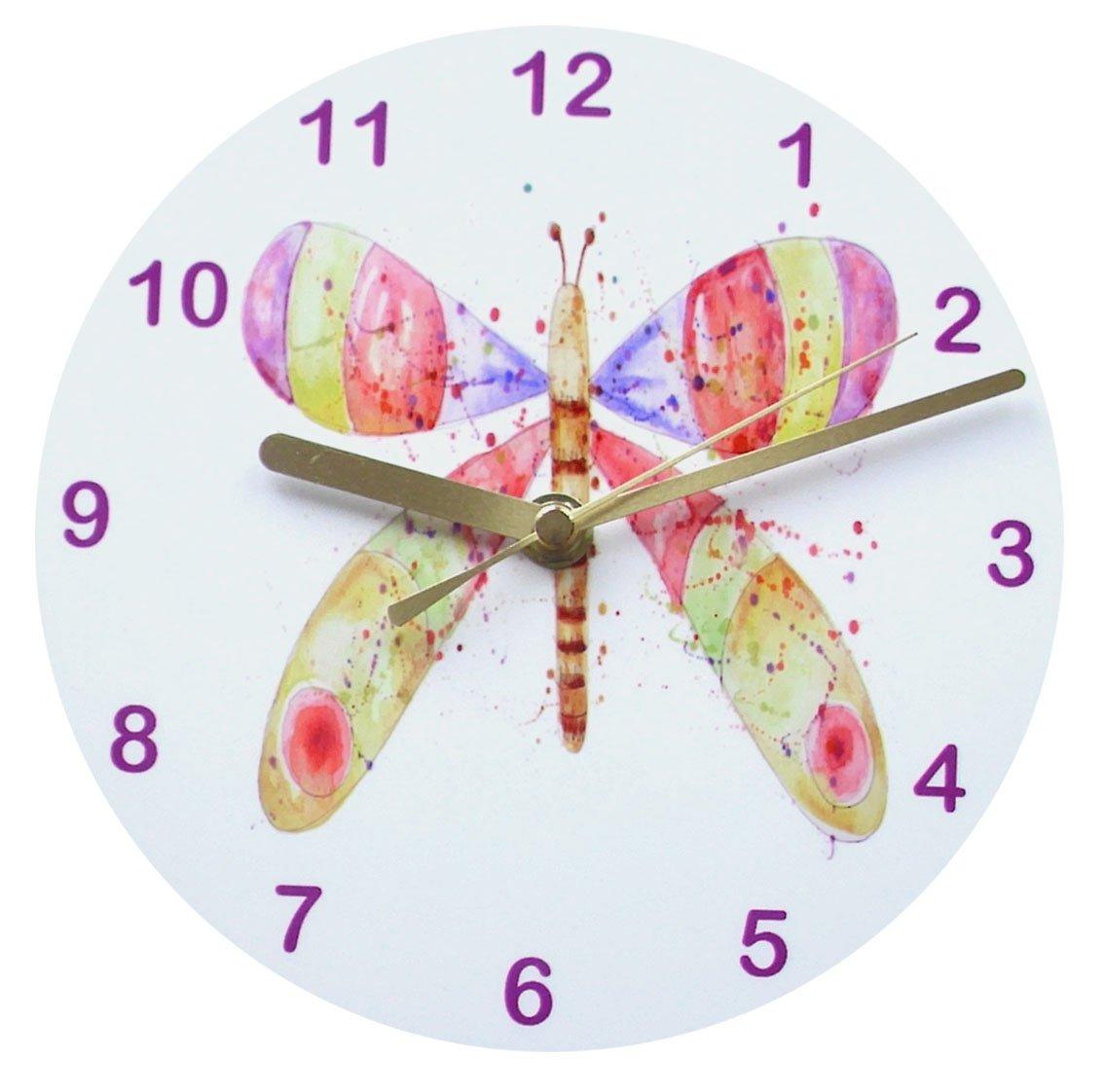 Butterfly splash children', Uhr, Wanduhr, Mädchenuhr jetzt bestellen