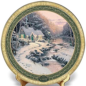 The 2014 Edition of Thomas Kinkade's Cherished Christmas Memories Annual Plate Collection by The Bradford Exchange
