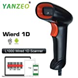 Yanzeo L1000 1D Laser Wired Barcode Scanner Portable USB Barcode Scanner Handheld Reader