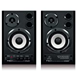 BEHRINGER MS20 24-Bit/192 KHz Digital 20-Watt Stereo Near Field Monitors Black (Color: Black)