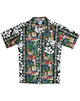 RJC Boy's Surfboard Woodie Hawaiian Shirt