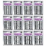 12 Packungen Nailsticker HBJY Set 3 Borten Streifen schwarz selbstklebend