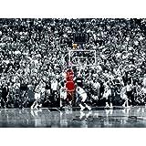 Michael Jordan - The Last Shot 36x24 Poster Art Print Nba Superstar