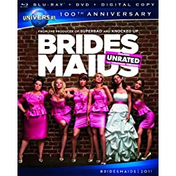 Bridesmaids [Blu-ray + DVD + Digital Copy] (Universal's 100th Anniversary)