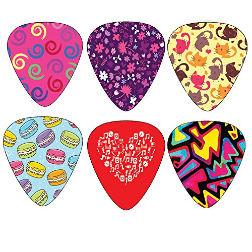Unique-Girly-Guitar-Picks-for-Girls-Set-12-pack-Medium-Size-Celluloid-Best-Gifts-for-Kids-Teens-Daughter-Granddaughter-Niece-Women-Thanksgiving-Christmas-New-Year-Birthday-Stocking-Stuffers