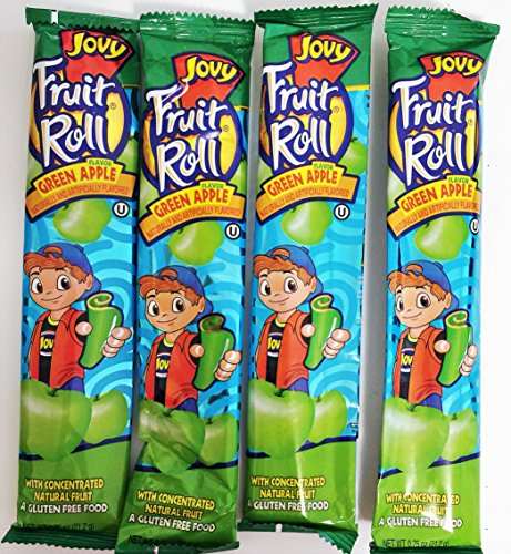 0.75oz Jovy Fruit Roll Snack, Green Apple (4 Packets Per Order) (Green Fruit Snacks compare prices)