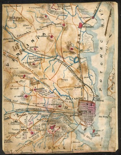 Civil War era map of Alexandria, Virginia