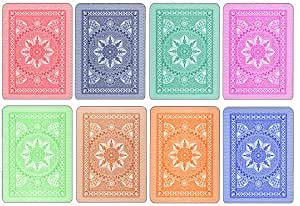 8 decks Modiano Cristallo 4 PIP Jumbo Index 100% Plastic Playing Cards