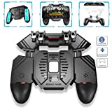 AK77 Sixth Generation 4 Triggers [6 Finger Operation] Mobile Game Controller Shooter Trigger Cooling Fan Power Bank Game Joystick 3 In1 for 4-6.5 Pho