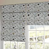 Presto Bazaar Brown N Beige Floral Tissue Embroidered Window Blind (84 Inch X 44 Inch)