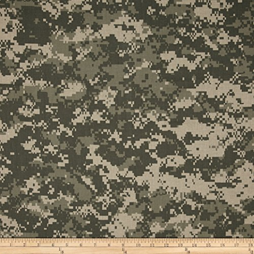 Urban Camouflage Green/Tan Fabric By The Yard (Digital Camouflage Fabric compare prices)