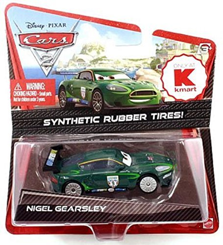 Disney/Pixar Cars 2 Movie Exclusive Die-Cast Vehicle, Nigel Gearsley with Synthetic Rubber Tires, 1:55 Scale