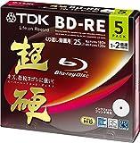 TDK 録画用ブルーレイディスク 超硬シリーズ BD-RE 25GB 1-2倍速 ホワイトワイドプリンタブル 5枚パック 5mmスリムケース BEV25HCPWA5A